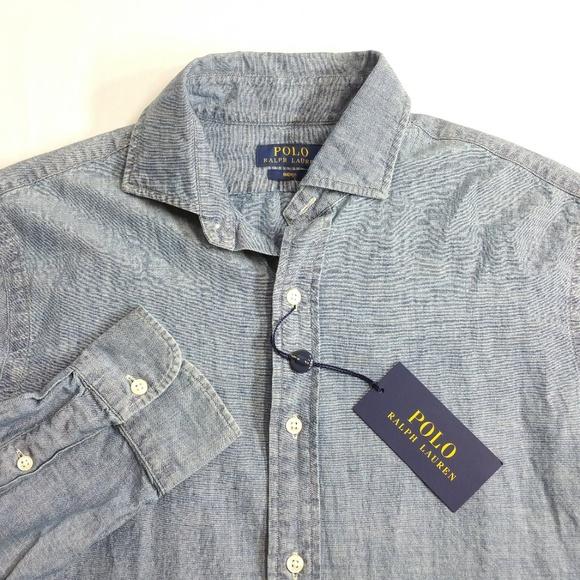 ba56fc55 Polo by Ralph Lauren Shirts | Polo Ralph Lauren Men Indigo Chambray ...
